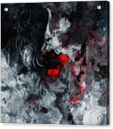 Black And Red Abstract Painting  Acrylic Print
