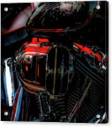 Black And Red Harley 5966 H_2 Acrylic Print