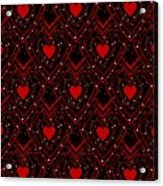 Black And Red Hearts Acrylic Print