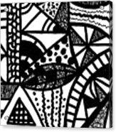 Black And White 16 Acrylic Print