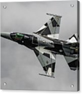 Black And White 18th Aggressor Sqn Viper Topside Against The Grey Acrylic Print