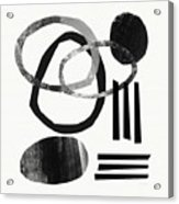 Black And White- Abstract Art Acrylic Print