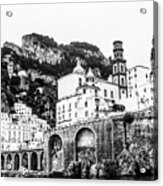 Black And White Amalfi Acrylic Print
