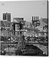Black And White Baltimore Acrylic Print