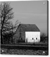Black And White Barn Ll Acrylic Print
