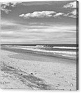 Black And White Beach Acrylic Print