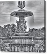 Bedesta Statue Black And White  Acrylic Print