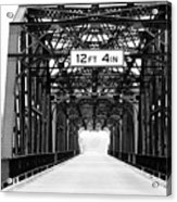 Black And White Bridge Acrylic Print