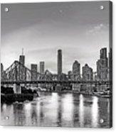 Black And White Brisbane Landscape Acrylic Print