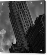 Black And White Buildings Acrylic Print