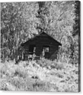 Black And White Cabin Acrylic Print