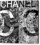 Black And White Chanel Art Acrylic Print