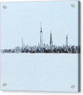Black And White City Acrylic Print