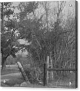 Black And White Country Scene Acrylic Print