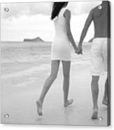 Black And White Couple Acrylic Print by Brandon Tabiolo - Printscapes