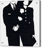 Black And White Couple Acrylic Print