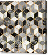 Black And White Cubes Acrylic Print