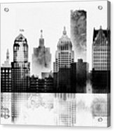 Black And White Detroit Acrylic Print