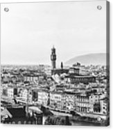 Black And White Florence Italy Acrylic Print