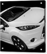 Black And White Ford Fiesta Acrylic Print