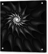 Black And White Fractal 080810c Acrylic Print
