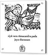 Black And White Hanuman Chalisa Page 59 Acrylic Print