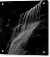 Black And White Hidden Falls Acrylic Print