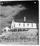 Black And White Image Of A House In New England In Infrared Acrylic Print