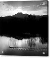 Black And White Lake Sunset Acrylic Print