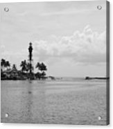 Black And White Lighthouse Acrylic Print