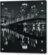 Black And White Lights Acrylic Print