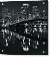 Black And White Lights Acrylic Print