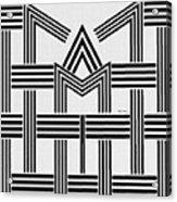 Black And White M Acrylic Print