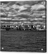 Black And White Mad Town Acrylic Print