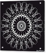 Black And White Mandala No. 1 Acrylic Print