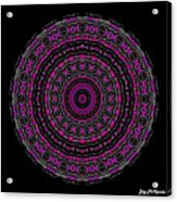 Black And White Mandala No. 3 In Color Acrylic Print