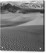 Black And White Mesquite Sand Dunes Acrylic Print