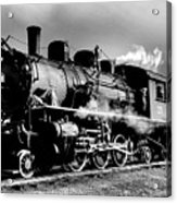 Black And White Of An Old Steam Engine  Acrylic Print