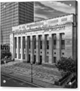 Black And White Of The Tennessee Supreme Court Building In Nashville Tennessee Acrylic Print