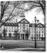 Black And White - Old Main - Widener University Acrylic Print