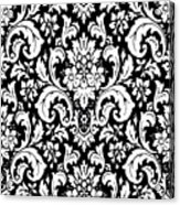 Black And White Paisley Pattern Vintage Acrylic Print