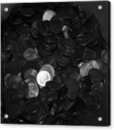Black And White Pennies Acrylic Print