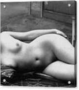 Black And White Photo Of Female Erotic Nude Acrylic Print
