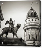 Black And White Photography - Berlin - Gendarmenmarkt Square Acrylic Print