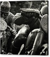 Black And White Photography - Motorcyclists Acrylic Print