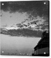 Black And White Pre-sunrise On Daytona Beach Pier  002 Acrylic Print