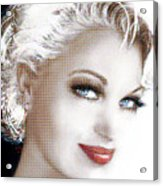 Black And White Red Lips Acrylic Print