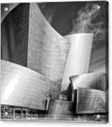 Black And White Rendition Of The Walt Disney Concert Hall - Downtown Los Angeles California Acrylic Print