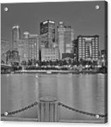 Black And White Riverfront 2017 Acrylic Print
