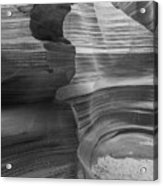 Black And White Sandstone Art Acrylic Print